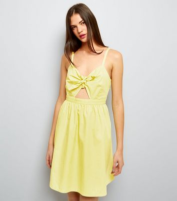 Yellow Bow Front Sundress