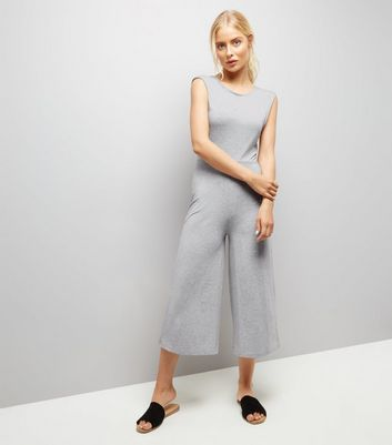 Dark Grey Twist Back Culotte Jumpsuit
