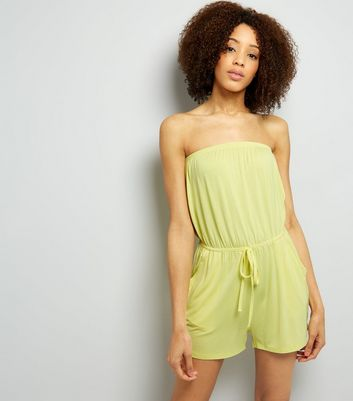 Yellow Jersey Bandeau Playsuit