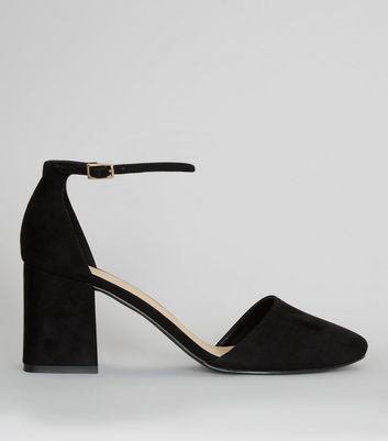 Wide Fit Suedette Round Toe Court Shoes
