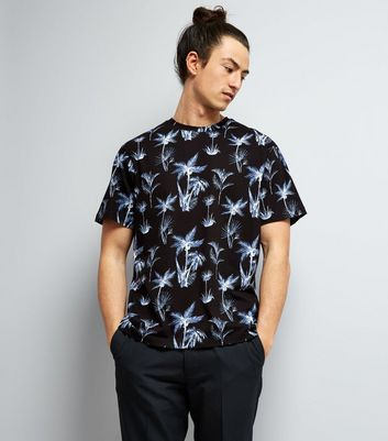 Navy Palm Tree Print T-Shirt