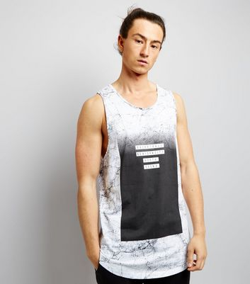 Black Marble Print Basketball Vest