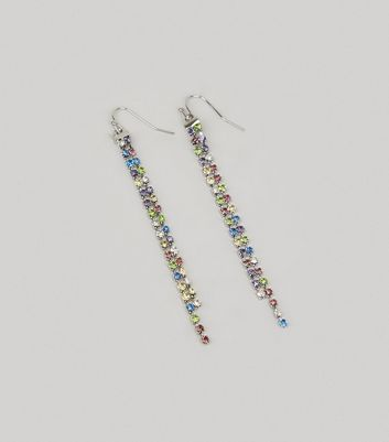 Multicoloured Crystal Drop Earrings