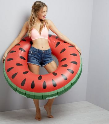 Red Watermelon Ring Inflatable Pool Float
