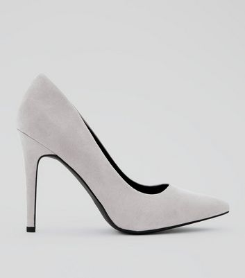 Wide Fit Lilac Suedette Pointed Court Heels