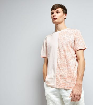 Pink Spliced T-Shirt