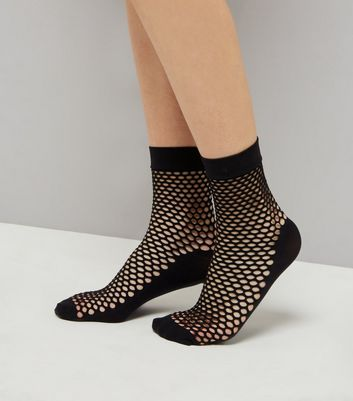 Black Honeycomb Fishnet Socks