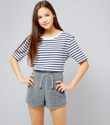 Teenager – Graue Frottee-Shorts