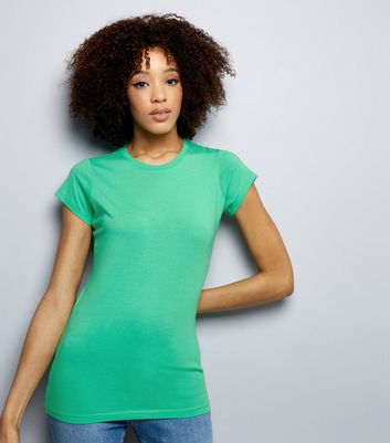 Green Cap Sleeve T-Shirt