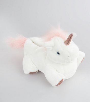 White Unicorn Slippers