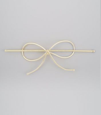 Gold Bow String Hair Slide