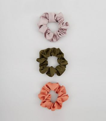 3 Pack Satin Scrunchies