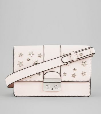 Shell Pink Star Stud Shoulder Bag
