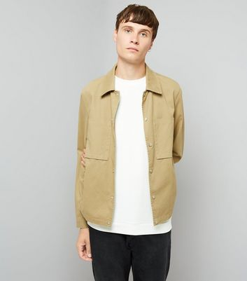 Tan Cotton Pocket Front Jacket
