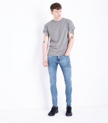 Light Blue Super Skinny Performance Denim Jeans