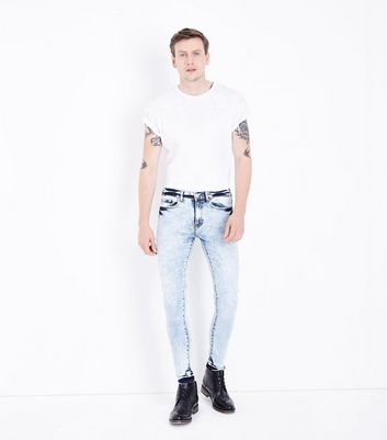 Pale Blue Acid Wash Super Skinny Jeans