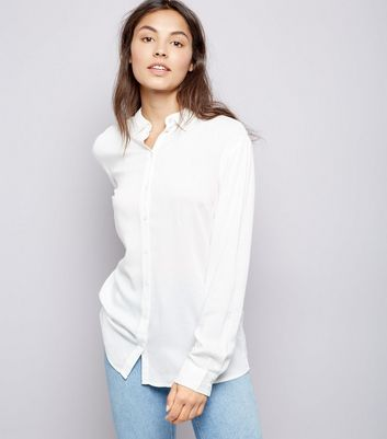 JDY White Cut Out Back Shirt
