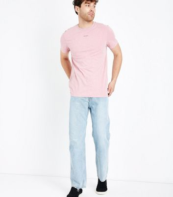 Pale Blue Straight Leg Jeans