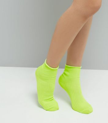 Green Metallic Ankle Socks