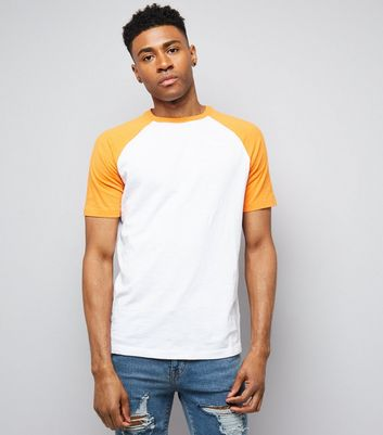 Orange Short Raglan Sleeve T-Shirt