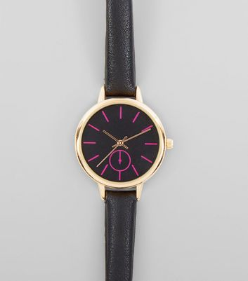 Black Neon Dial Watch