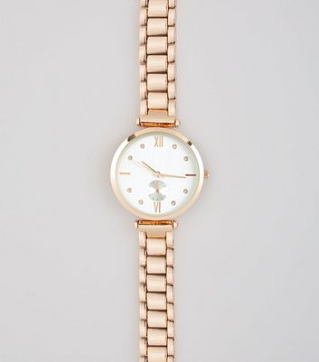 Gold Links Diamante Watch