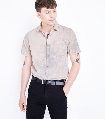 Coral Acid Wash Short Sleeve Shirt
