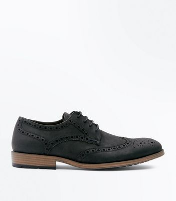 Black Cleated Sole Brogues