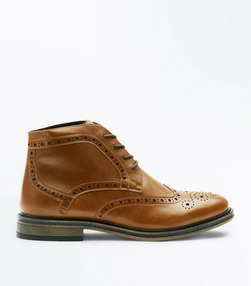 Tan Brogue Boots