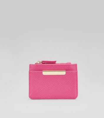 Pink Zip Top Card Holder