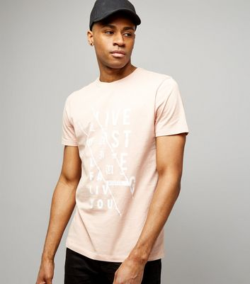 Pink Spliced Print T-Shirt