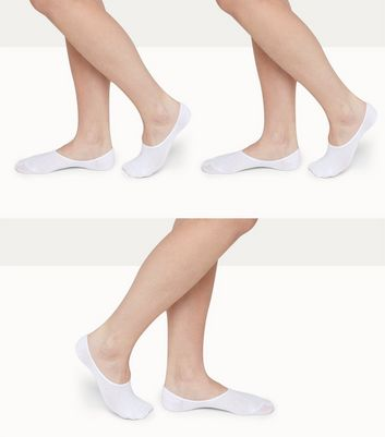 3 Pack White Sports Socks