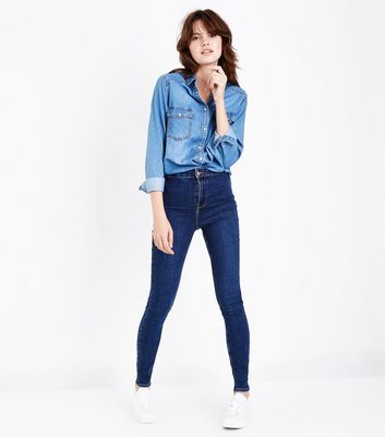 Navy High Waist Skinny Hallie Jeans