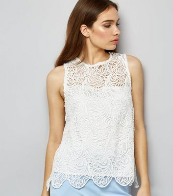 Apricot Cream Lace Swing Top