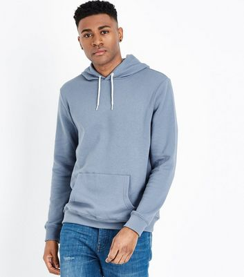 Pale Blue Pocket Front Hoodie