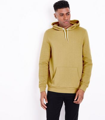 Yellow Pocket Front Hoodie