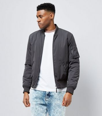 Grey Matte Bomber Jacket