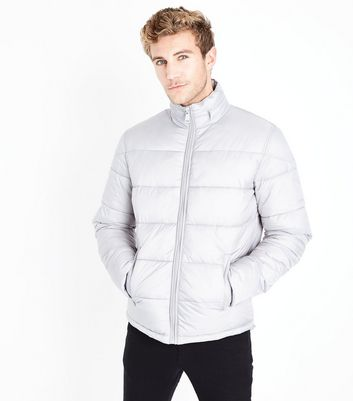 Pale Grey Puffer Jacket