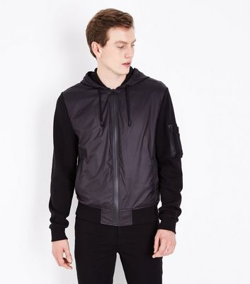 Black Zip Front Jacket