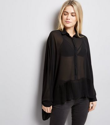 Mela Black Batwing Sleeve Blouse
