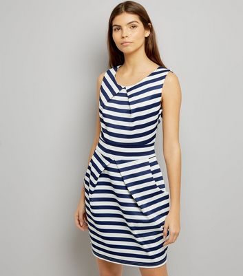 Mela White Stripe Tulip Dress