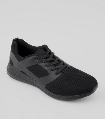 Black Runner Lace Up Trainers