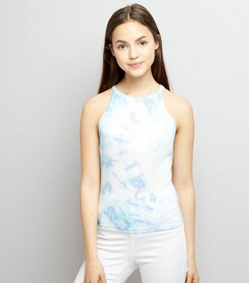 Teens Pale Blue Tie Dye Cami Top