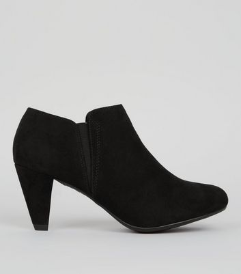 Teens Black Suedette Ankle Boots