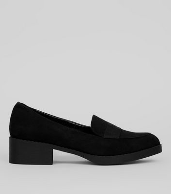 Teens Black Suedette Loafers