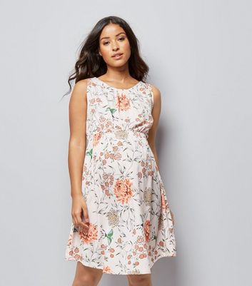 Maternity Pink Floral Print Dress