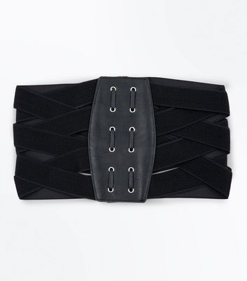 Black Elasticated Waist Corset Belt