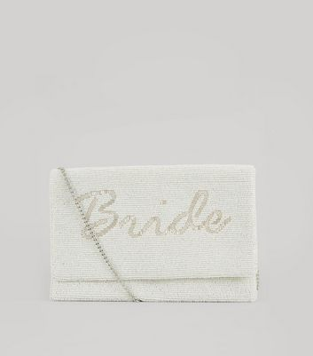 White Bride Beaded Clutch