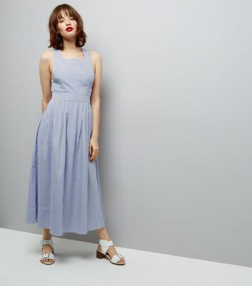 QED Blue Pinafore Dress