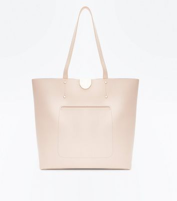 Nude Patch Pocket Tote Bag